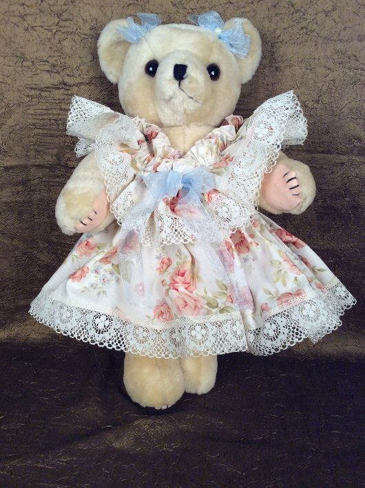 Peach Dressed Bear - 260687_IMG_0822