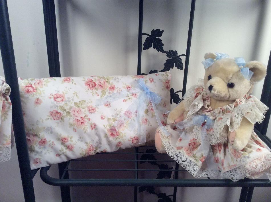 Peach bear and Pillow
