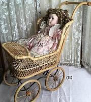 Victorian Doll & Carriage