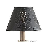 Punched Metal Star Lampshade