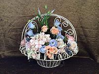 Floral Arrangement in scroll wire basket - 26069_IMG_0814