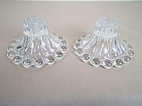 Mid-Century glass candle holders ( set of two )