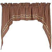 Country House Collection  - burgundy Window Curtain