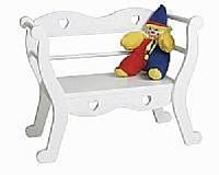 Child's Heart Bench ( white )